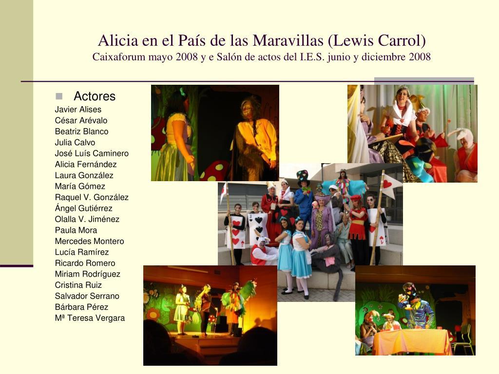 Alicia en el País de las Maravillas (Lewis Carrol)