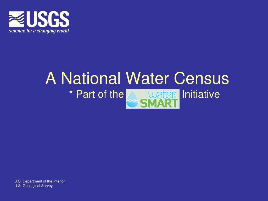 a national water census part of the initiative l.