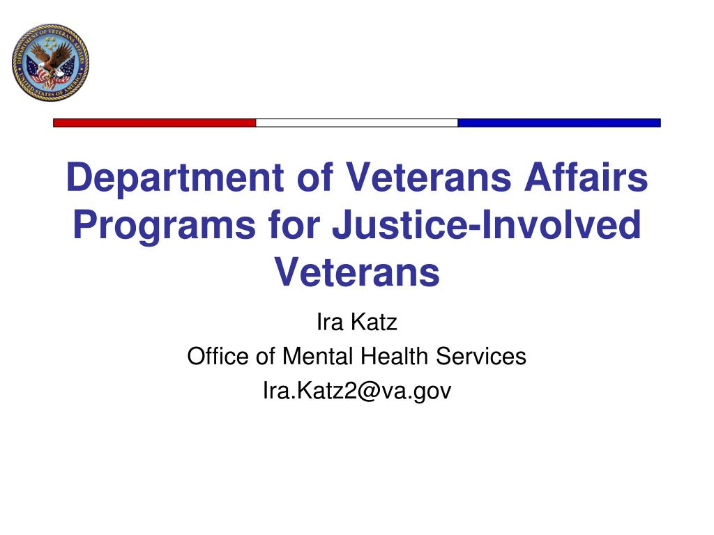 department of veterans affairs programs for justice involved veterans