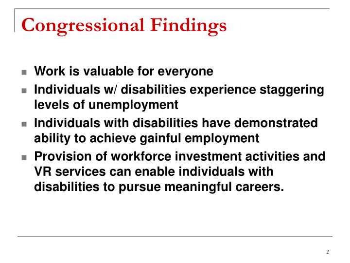 Congressional findings
