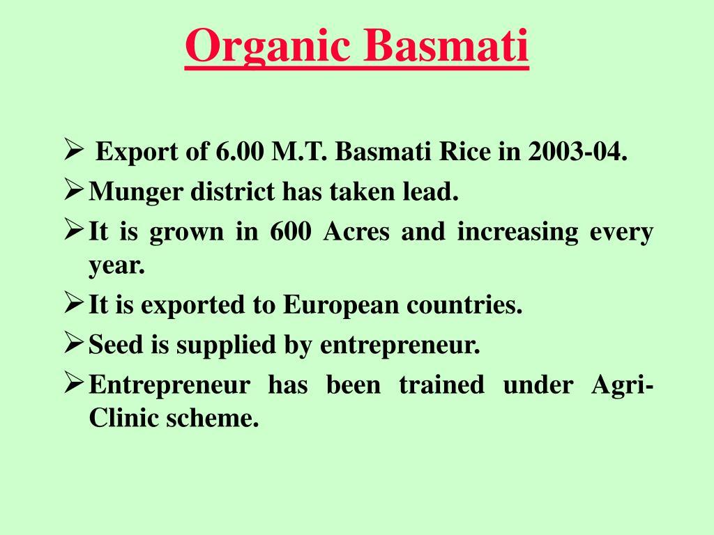 Organic Basmati