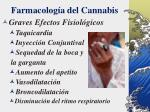 farmacolog a del cannabis