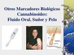 otros marcadores biol gicos cannabinoides fluido oral sudor y pelo