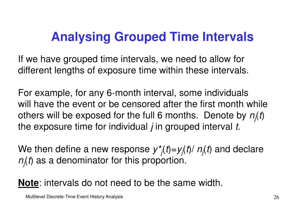 Analysing Grouped Time Intervals