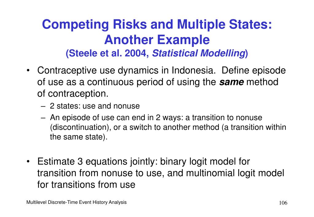 Competing Risks and Multiple States: Another Example