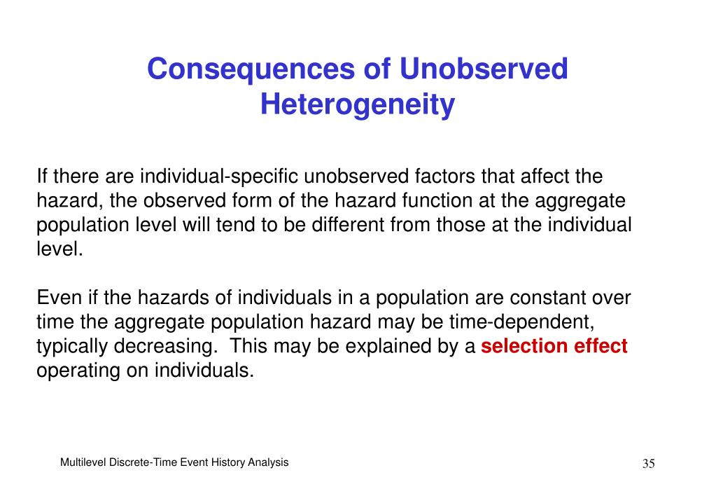 Consequences of Unobserved Heterogeneity