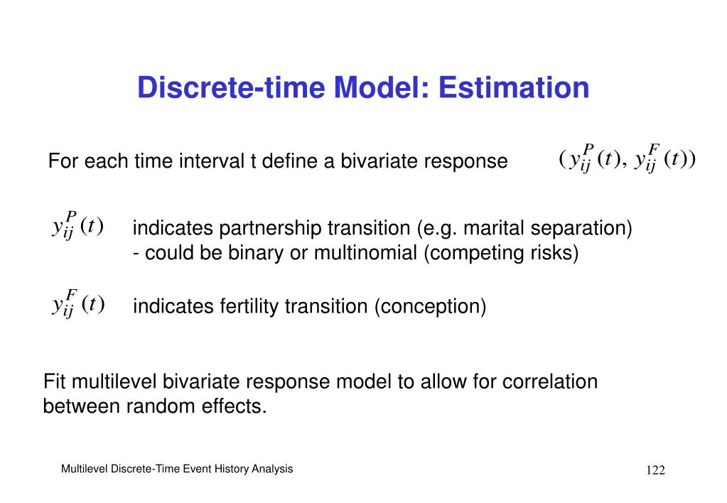 For each time interval t define a bivariate response