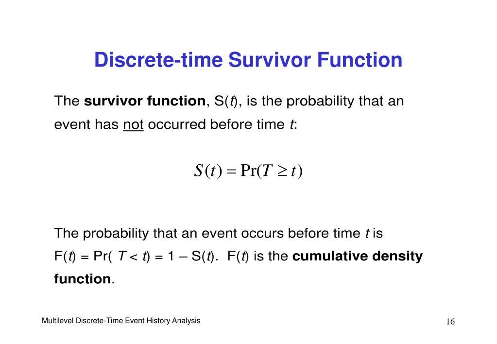 Discrete-time Survivor Function
