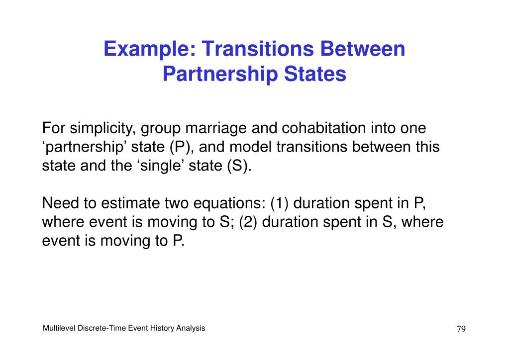 Example: Transitions Between Partnership States