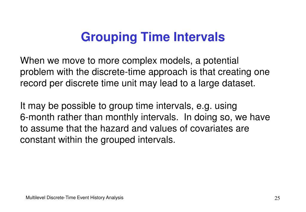 Grouping Time Intervals