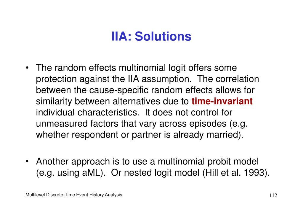 IIA: Solutions