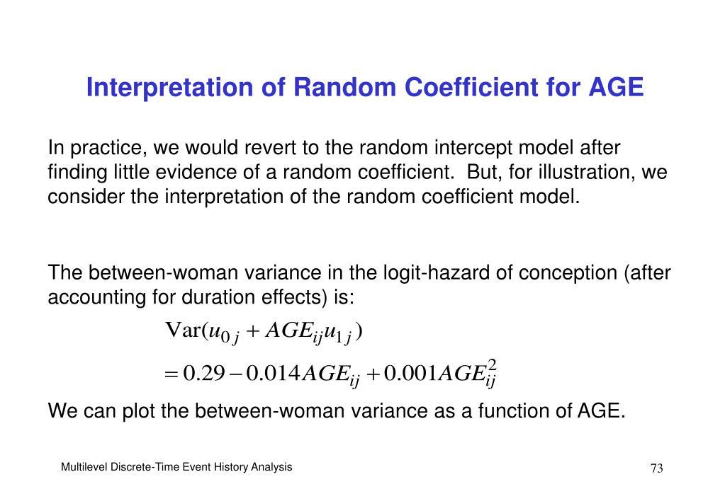 Interpretation of Random Coefficient for AGE