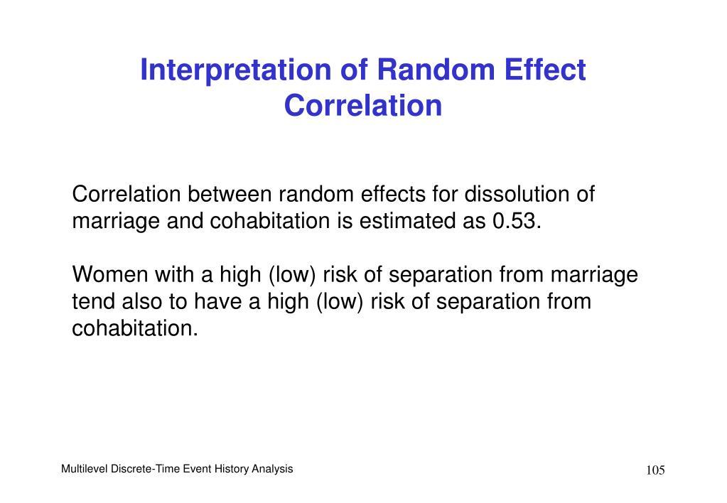 Interpretation of Random Effect Correlation