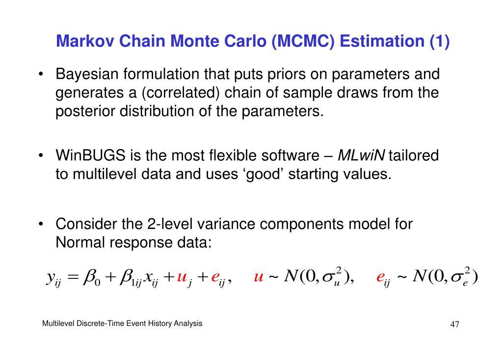 Markov Chain Monte Carlo (MCMC) Estimation (1)