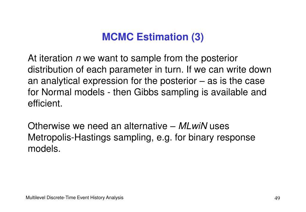 MCMC Estimation (3)
