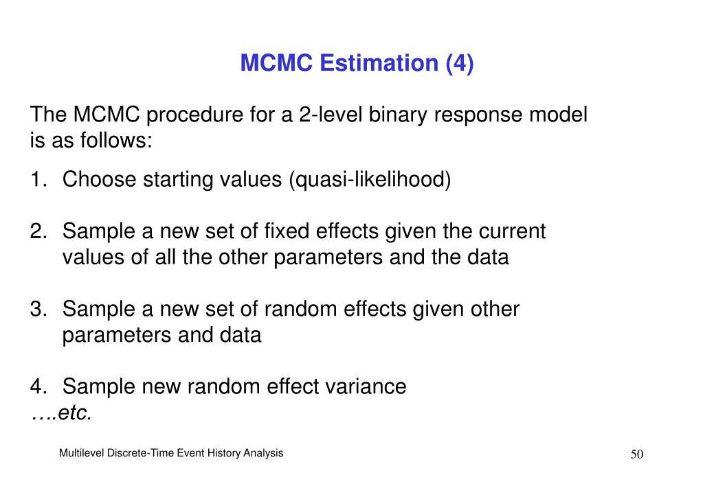 MCMC Estimation (4)