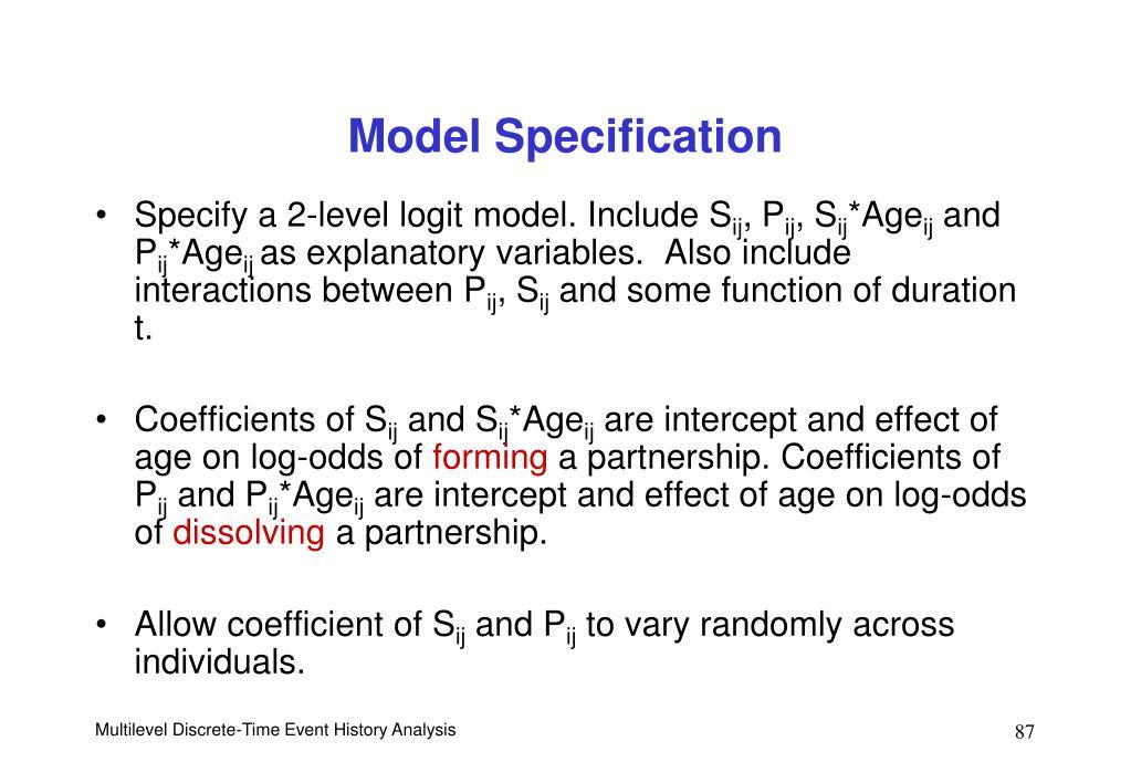 Model Specification