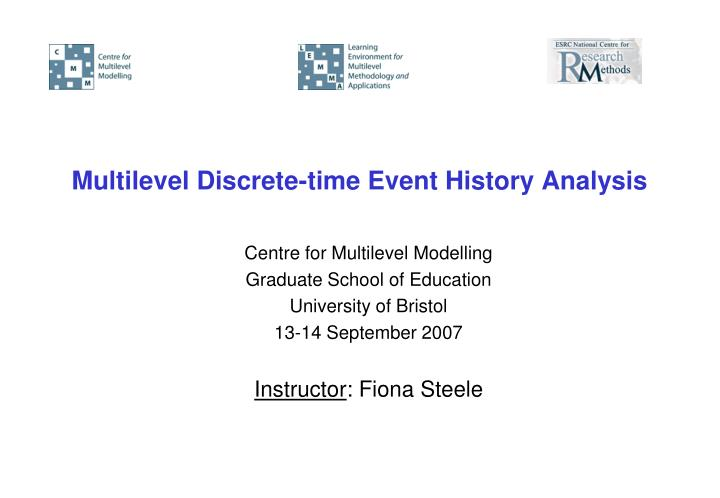Multilevel discrete time event history analysis