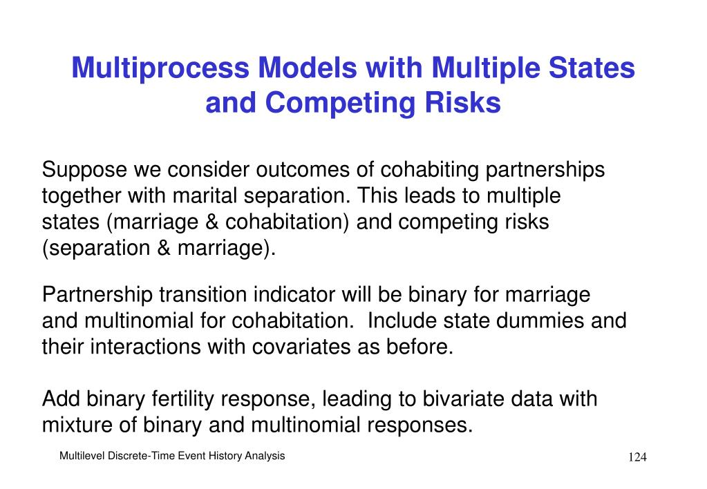 Multiprocess Models with Multiple States and Competing Risks