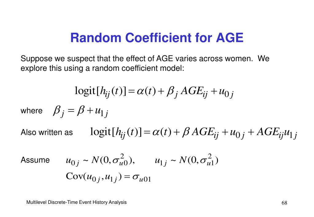 Random Coefficient for AGE