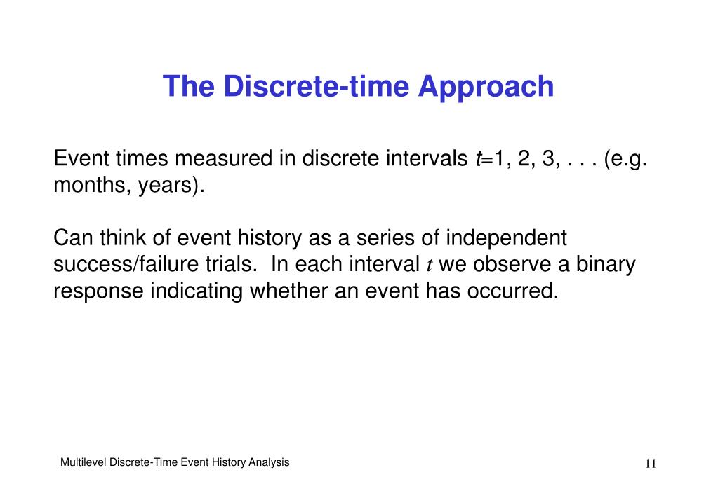 The Discrete-time Approach