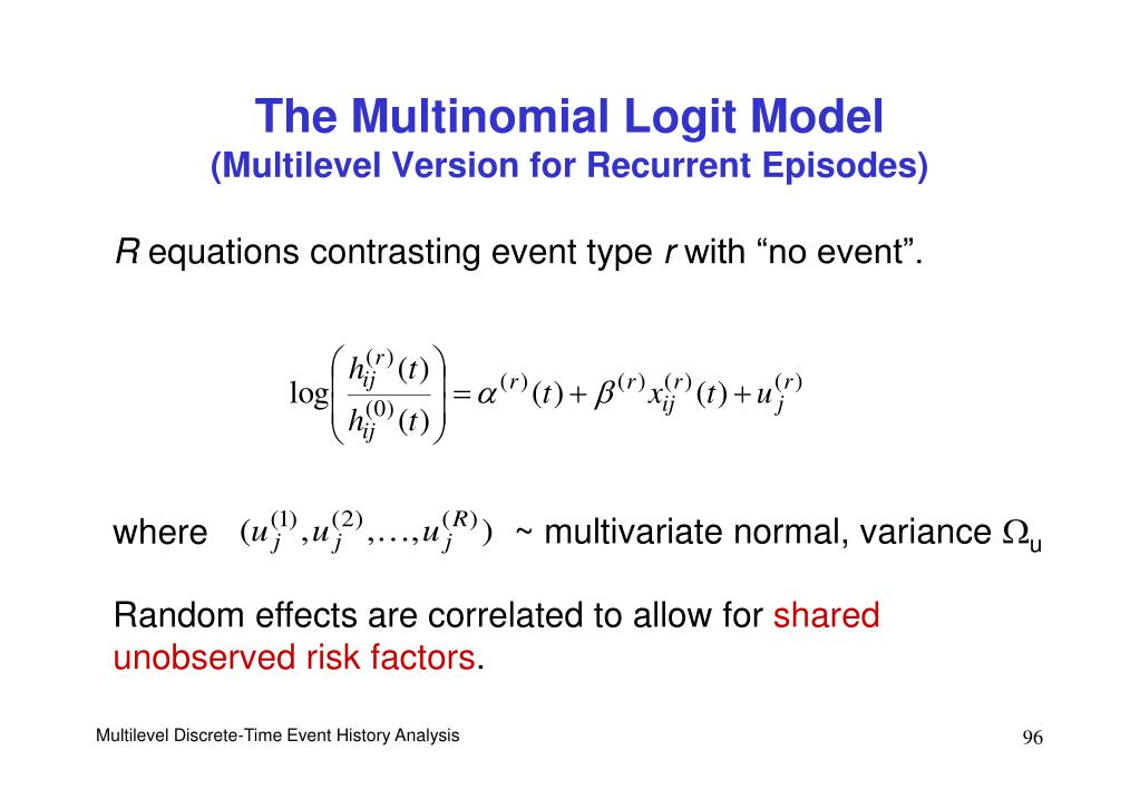 ~ multivariate normal, variance