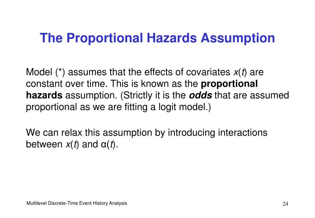 The Proportional Hazards Assumption