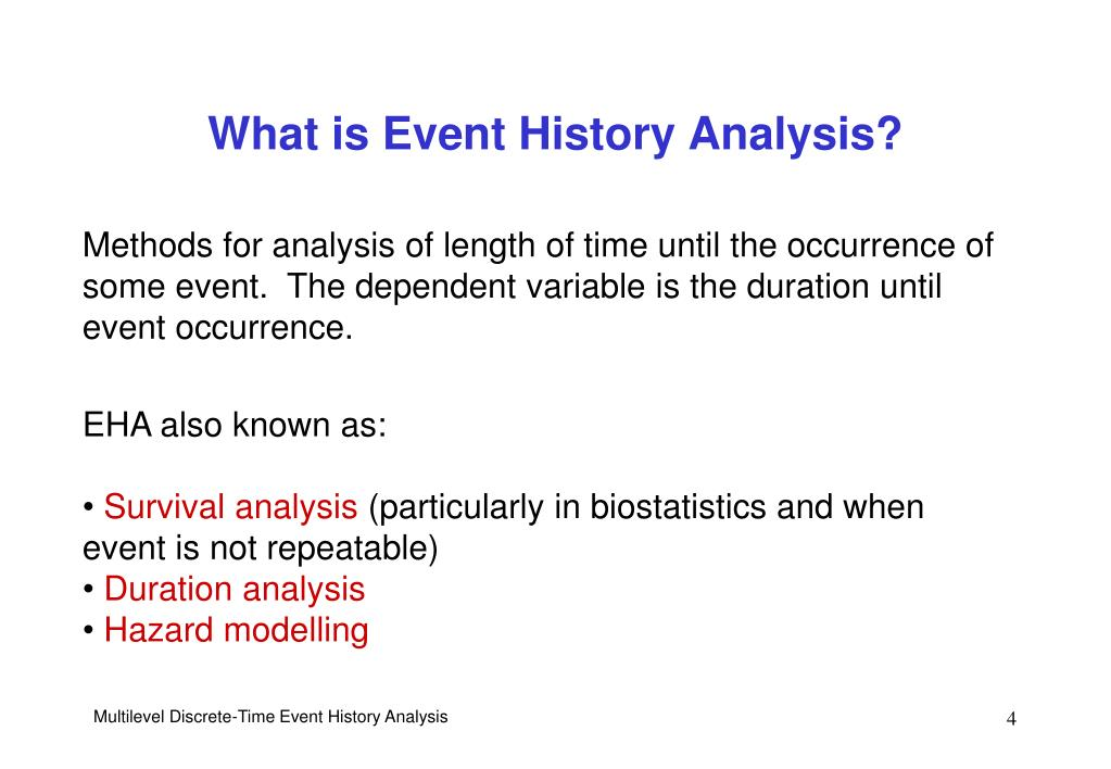 What is Event History Analysis?