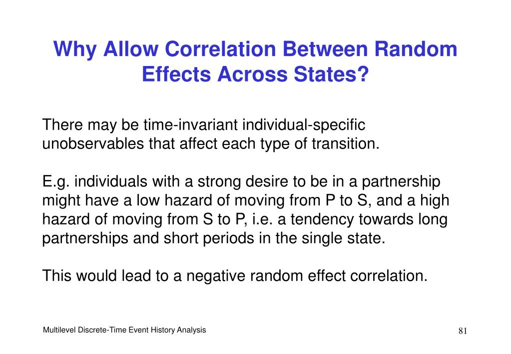Why Allow Correlation Between Random Effects Across States?