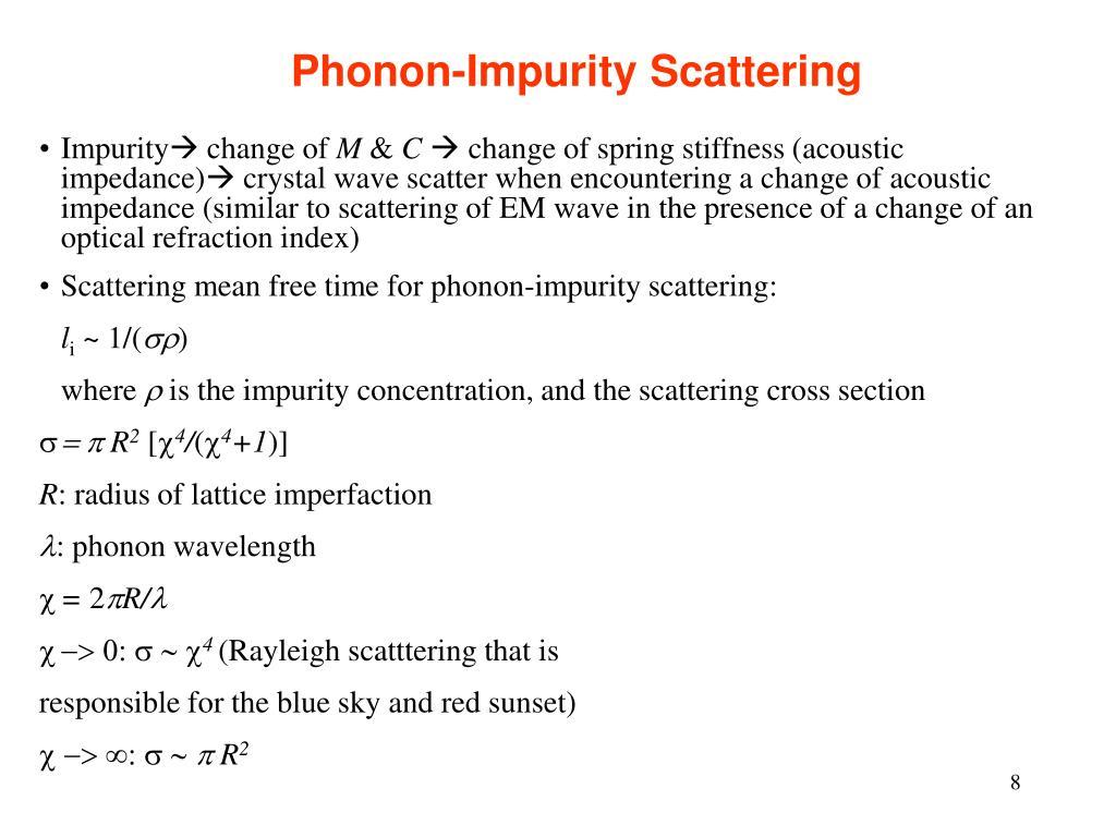 Phonon-Impurity Scattering