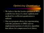 optimizing quantization