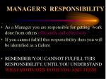 manager s responsibility