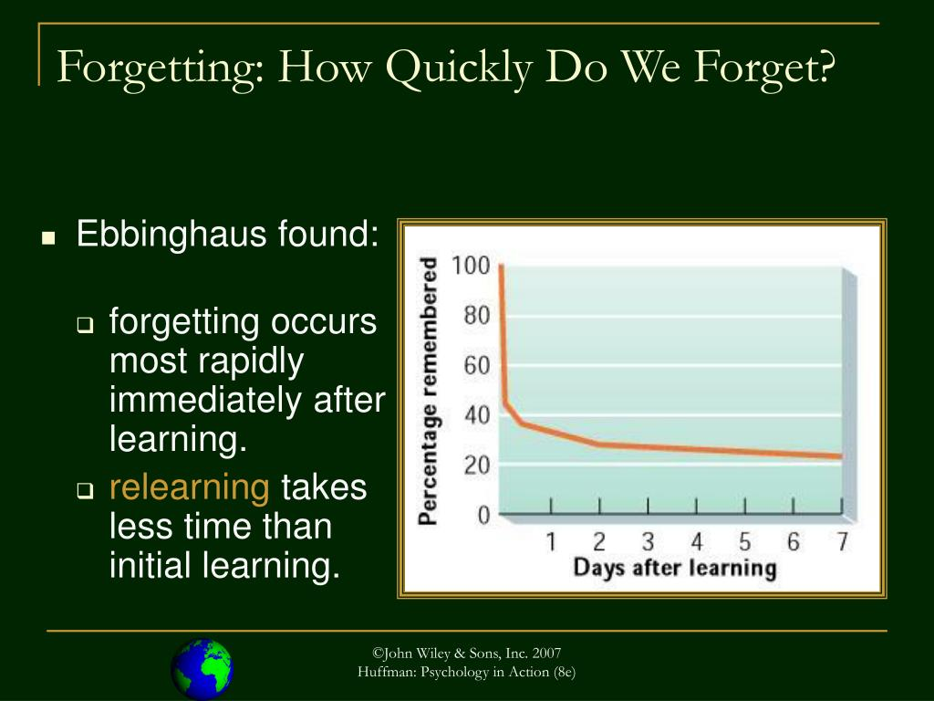 Forgetting: How Quickly Do We Forget?