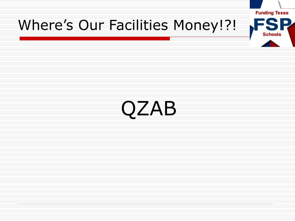 Where's Our Facilities Money!?!
