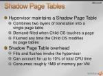shadow page tables