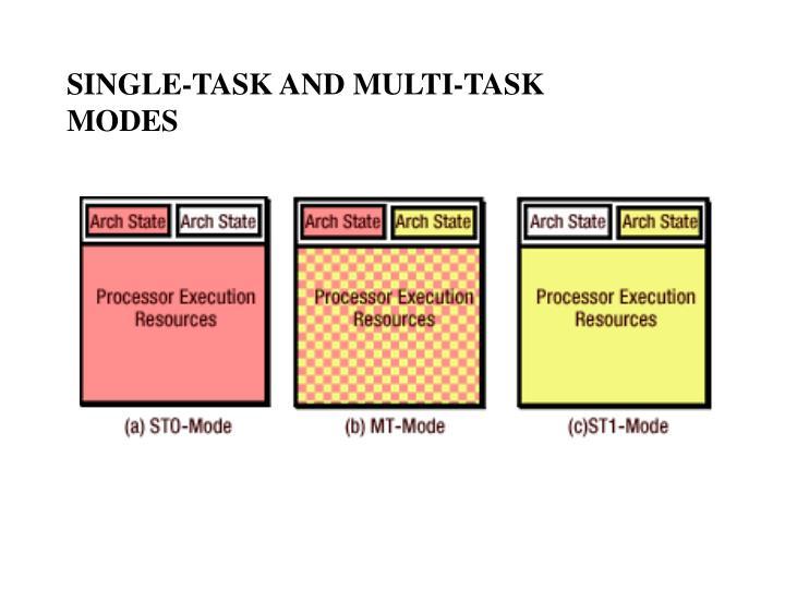 SINGLE-TASK AND MULTI-TASK