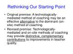 rethinking our starting point