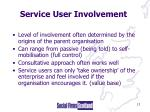 service user involvement