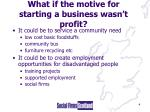 what if the motive for starting a business wasn t profit