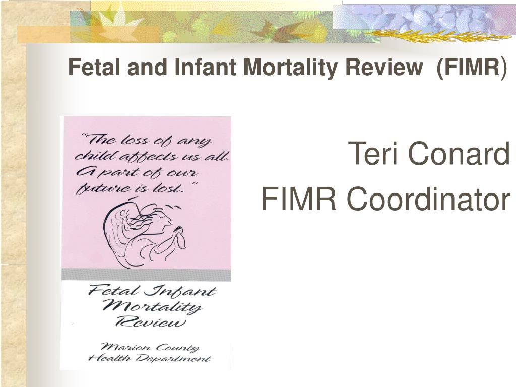 Fetal and Infant Mortality Review  (FIMR