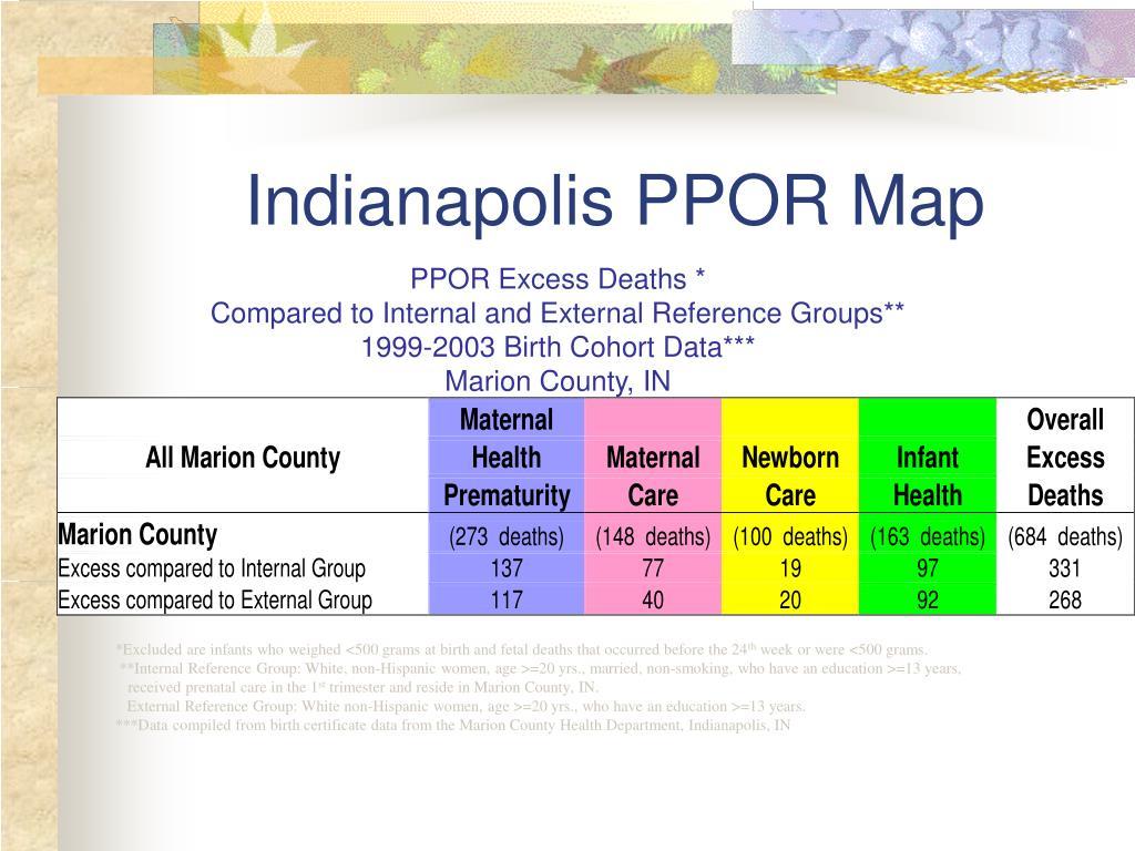 Indianapolis PPOR Map