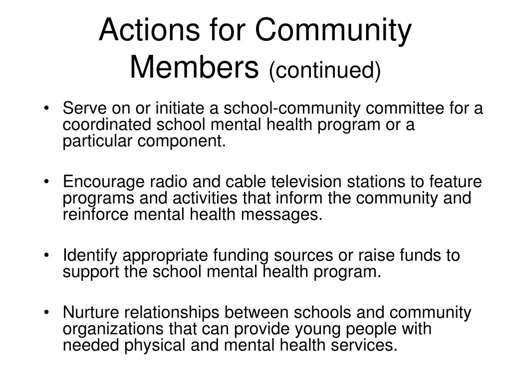 Actions for Community Members