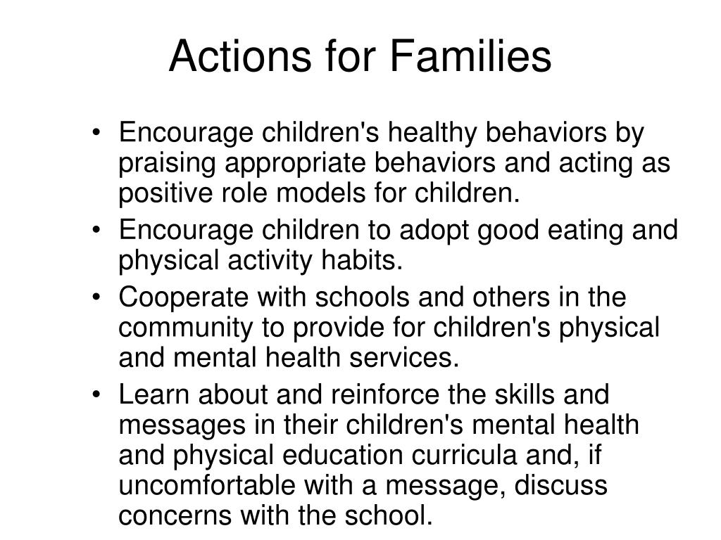Actions for Families