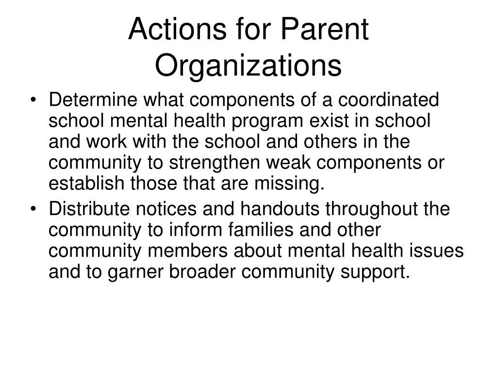 Actions for Parent Organizations