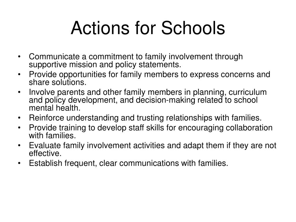 Actions for Schools