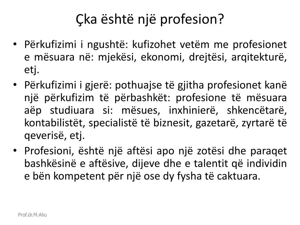 Çka është një profesion?
