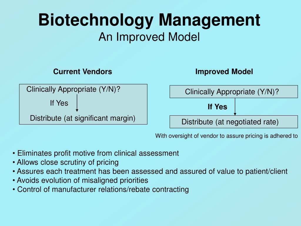 Biotechnology Management