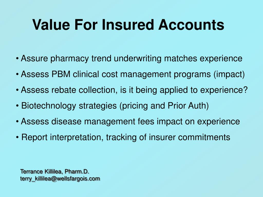 Value For Insured Accounts
