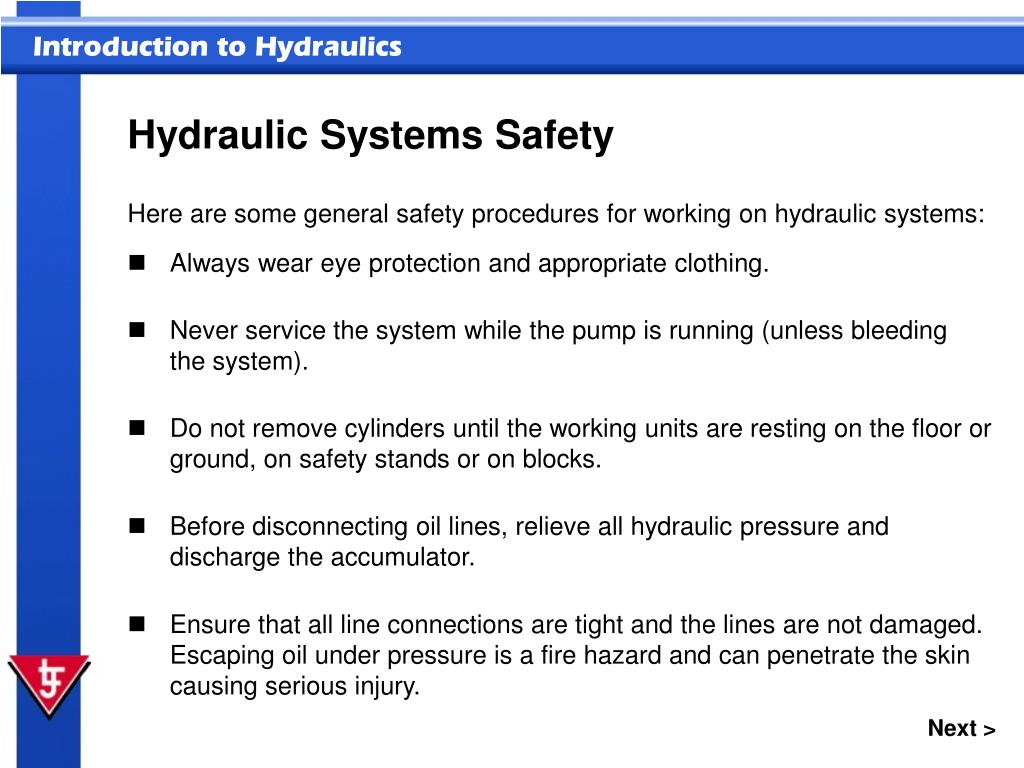 Hydraulic Systems Safety