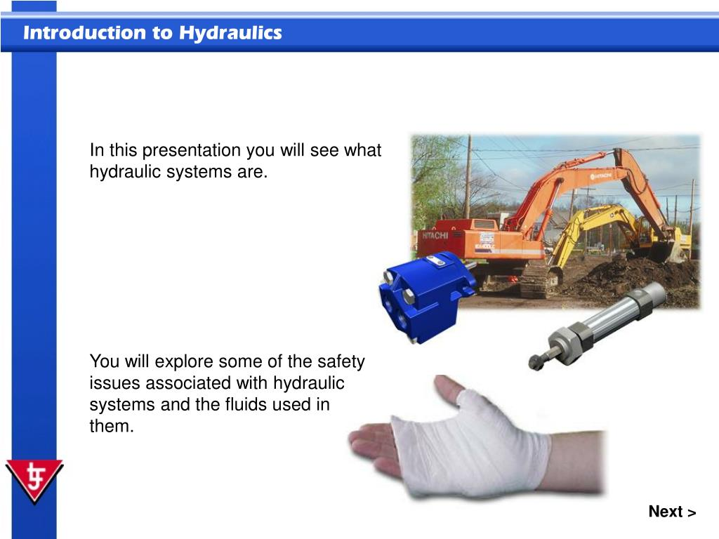 In this presentation you will see what hydraulic systems are.